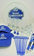 Wodka Gorbatschow Set 29 Teile, Platinum Gläser Shot Tablett Stirrer Schlüssel..