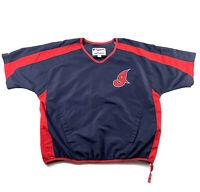 Vintage 90s Cleveland Indians Majestic Windbreaker Lightweight Pullover Men's M