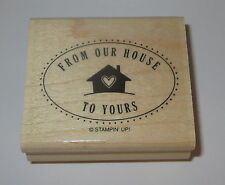 From Our House to Yours Rubber Stamp Stampin' Up! Wood Mounted Rare Home Heart