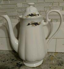 English Bone China teapot Coffee Pot Black Gold Richmond