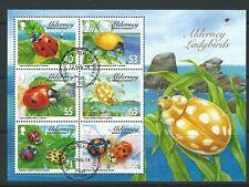 Alderney Aurigny 2014 Ladybirds miniature sheet fine utilisé