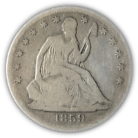 1859-S Seated Half Dollar Great Deals From The Executive Coin Company - BBHE5979