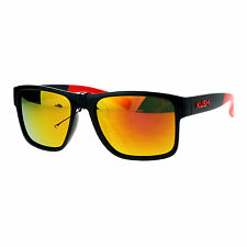 Kush Mens Color Mirror Rectangular Plastic Sport Sunglasses