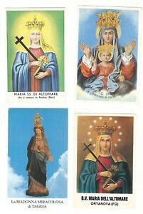 Lotto n. 4 Santini Madonne differenti con preghiere (4206-4209) Come da foto