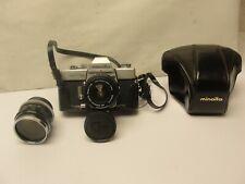 Minolta SRT 101 Chrome 35mm SLR Film Camera 2 Minolta Lens Rokker-pf f-58mm 1:14