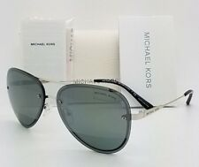 6e9b12198ddfd New Michael Kors sunglasses MK1026 11181Y Silver Gunmetal Mirror Aviator  GENUINE