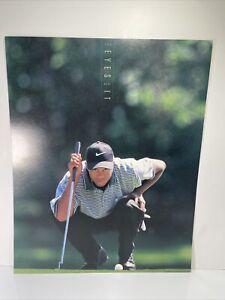 Tiger Woods 'The Eyes Have It' Rookie CARDSTOCK Poster Vintage 16x20 #5520