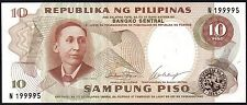 1969 PHILIPPINES 10 PISO BANKNOTE * N 199995 * UNC * P-144a *