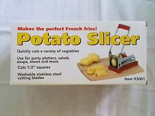"""Potato Slicer #93001 From Harbor Freight Unused In Box Cuts 1/2"""" Squares"""