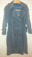 Dusky blue / grey size 14 shower proof belted full length trench / mac coat