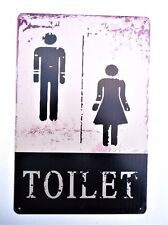 TOILET  METAL TIN SIGNS vintage cafe pub bar garage decor nightclub shop retail