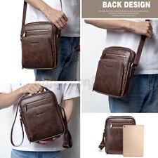 Mens Leather Shoulder Messenger Bag Casual Travel Business Crossbody Handbag z