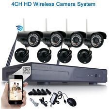 HD 720P WIFI Wireless IP Camera 8CH NVR Outdoor Home Security Systems Black