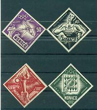 Monaco 1953 - Y & T  n. 51/54 poste aérienne - Jeux olympiques d'Helsinki