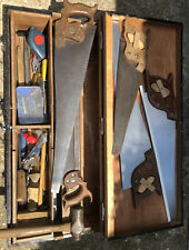 More details for antique carpenters tool chest with tools (1 of 2)