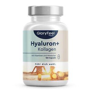 Hyaluron + Kollagen - 180 Kapseln mit Biotin, Zink & Selen - Haut & Haar Komplex