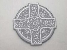 Celtic Cross Design Embroidered Iron On Applique Patch