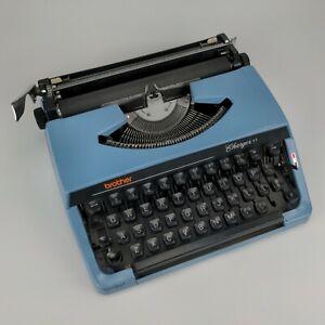 Brother Charger 11 Typewriter - vintage blue japan 2 sticking keys