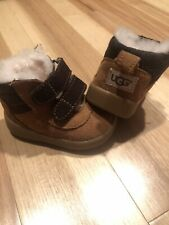 UGG Australia Baby Booties Boots Brown Sz 0/1 Pritchard Suede 0-6 Months