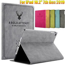 """For iPad 10.2"""" 7th Gen 2019 Magnetic Flip Stand Smart PU Leather Case Cover"""