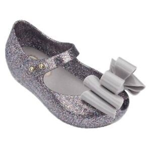 Mini Melissa Three layers Bow Sandals Toddler Kids Girls Jelly Shoes USA 6-11