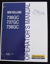 New Holland 736Gc 737Gc 738Gc Rotary Cutter Mower Operators Manual Clean