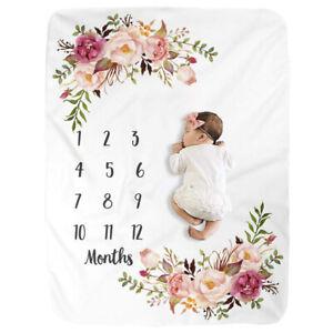 Newborn Baby Infant Milestone Blanket Mat Photography Photo Prop Monthly GR