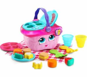 LEAPFROG Shapes & Sharing Picnic Basket Educational Baby Toy - Pink - Currys