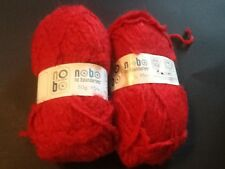 Lot of 2 NOBO (NO BOUNDRIES) YARN RED.                       #4F2