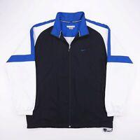 Vintage NIKE Black Zip Up Swoosh Lightweight Track Jacket Mens Size XL