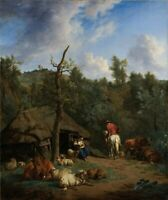 "high quality 24x36  oil painting handpainted on canvas ""woman,man,cattle,sheep"""