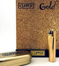Clipper Lighter Metall Metal GOLD Feuerzeug MATT GOLD  mit Metal Box 1x