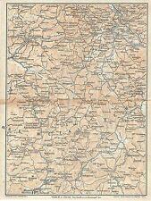 Carta geografica antica VOLTERRA POBBIBONSI MASSA TCI 1923 Old antique map