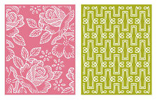 """Quickutz Embossing folder """"Tea Party"""" A2 card making  2 folders double pack"""