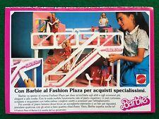 VV85 Pubblicità Advertising Clipping 19x13 cm (80s) BARBIE FASHION PLAZA MATTEL