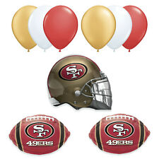 San Francisco 49ers TEAM Super Bowl 2020 Party Decorations Balloons •9pc