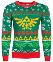 Official Nintendo Zelda Knitted Ugly Christmas Jumper Sweater Adult Gaming Gamer