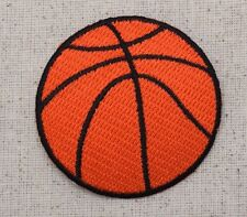 Iron On Applique Embroidered Patch Large Basketball Sport Ball 2.25""