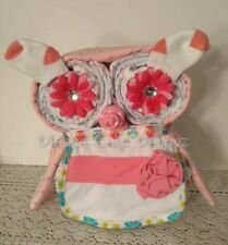 Girl Owl Diaper Cake Baby Gift