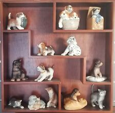 Royal Copenhagen Wood Wall Shelf Display Only For Cat, Dog, Figurines