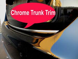 Fit Fiat 2009-2018 models Tailgate TRUNK Trim Molding - CHROME Style