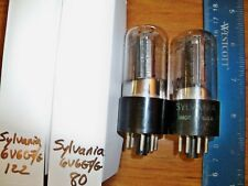 2 Sylvania 6V6GT/G Tubes