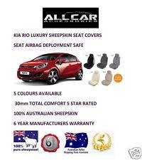 Sheepskin Car Seatcovers for a Kia Rio , Seat Airbag Safe, 5 Colours.30mm TC