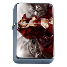 Hot Anime Witches D1 Flip Top Dual Torch Lighter Wind Resistant