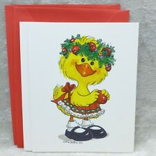 Current Inc Suzys Zoo Christmas Holiday 2 Cards Suzy Wreath Unused with Envelope