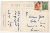 1951 Aug 28th. Picture Postcard. Melbourne to Grünwald, Germany.