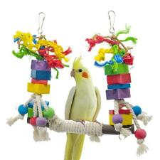 Bird Toy Bird Chewing Swing Toy Stand Hanging Perch Toys for Cockatiel Parrot