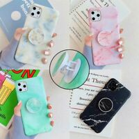 Marble TPU Matte Case Stand Holder Cover For iPhone 11 Pro XS Max XR X 7 8 Plus