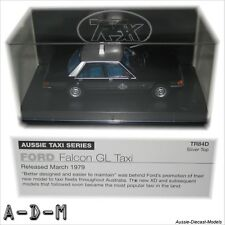 Ford Falcon XD GL Silver Top Taxi Trax TR84D 1:43 Scale Diecast Model Car