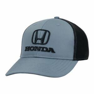 Honda Logo Embroidered Baseball Hat Ball Cap JDM Gray Black Official Licensed